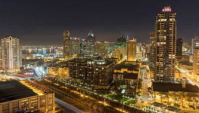 Photograph - San Diego After Dark by Heidi Smith