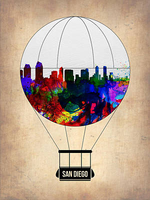 San Diego Air Balloon Art Print by Naxart Studio