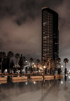 Photograph - San Diego At Night by Jeremy Farnsworth