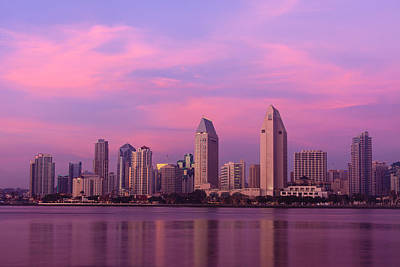 Photograph - San Diego At Sunset by Ben Graham