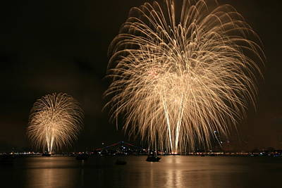 San Diego Bay Fireworks Art Print
