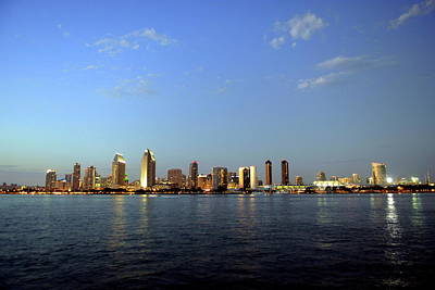 Photograph - San Diego California Skyline During Twilight  by Willie Harper