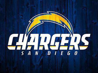 San Diego Chargers Barn Door Print by Dan Sproul