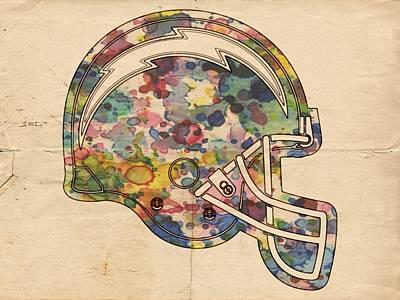 Painting - San Diego Chargers Helmet Art by Florian Rodarte