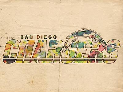 Painting - San Diego Chargers Logo Art by Florian Rodarte