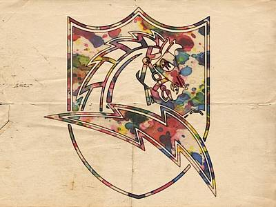 Painting - San Diego Chargers Vintage Logo by Florian Rodarte