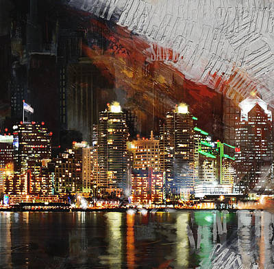 Paris Skyline Royalty-Free and Rights-Managed Images - San Diego City Collage 3 by Corporate Art Task Force