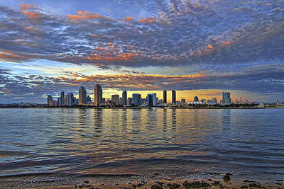 San Diego Colorful Clouds Art Print