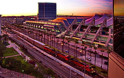 San Diego Convention Center Photograph - San Diego Convention Center Sunset by Russ Harris