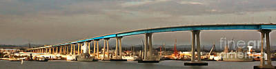 Photograph - San Diego Coronado Bridge 5d24388painterly by Wingsdomain Art and Photography