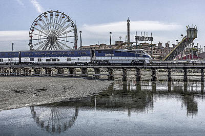 Digital Art - San Diego Count Fair And Amtrak by Photographic Art by Russel Ray Photos