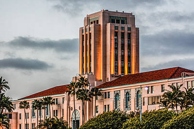 Art Print featuring the digital art San Diego County Administration Center by Photographic Art by Russel Ray Photos