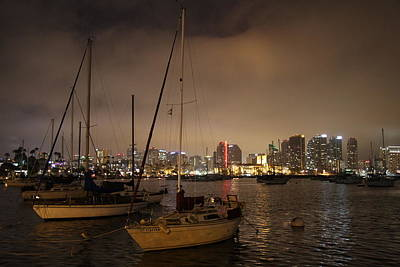 Photograph - San Diego Harbor At Night by Nathan Rupert