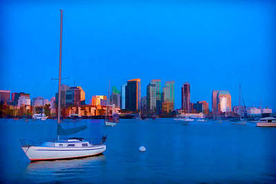 Digital Art - San Diego Harbor by Peter Tellone