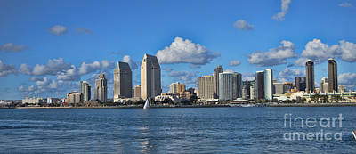 Giuseppe Cristiano - San Diego Harbor Skyline 2013 by Tommy Anderson