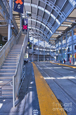 Photograph - San Diego Light Rail System Operating In The Metropolitan Area by David Zanzinger