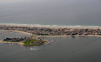 Photograph - San Diego Mission Bay 3 Aerial by Phyllis Spoor