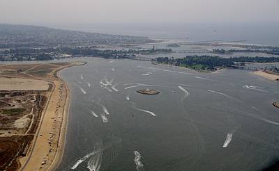 Photograph - San Diego Mission Bay Aerial 4 by Phyllis Spoor
