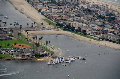 Photograph - San Diego Mission Bay Aerial by Phyllis Spoor