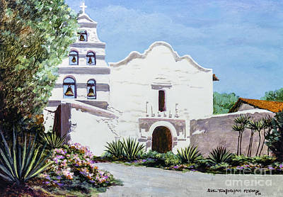 Painting - San Diego Mission De Alcala by Glenn McNary