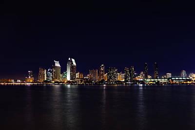 San Diego Night Lights Art Print