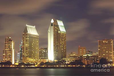 San Diego Nightscape  1-0635 Art Print by Stephen Parker