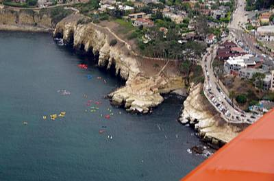 Photograph - San Diego Ocean Cliffs From A Biplane by Phyllis Spoor