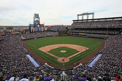 Photograph - San Diego Padres V Colorado Rockies by Doug Pensinger