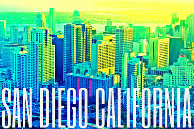 Digital Art - San Diego Postcard by Michelle Dallocchio