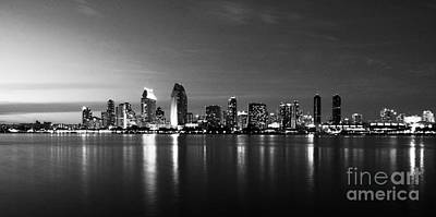 Photograph - San Diego Reflections Bw by Mel Steinhauer
