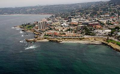 Photograph - San Diego Shoreline From Above by Phyllis Spoor