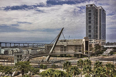 Digital Art - San Diego Skybridge  by Photographic Art by Russel Ray Photos