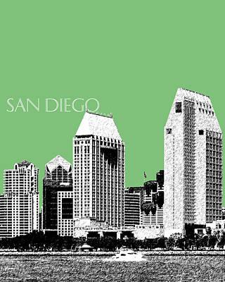 San Diego Skyline 2 - Apple Art Print by DB Artist