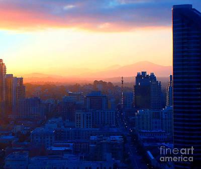 Photograph - San Diego Skyline 2 by Cedric Hampton