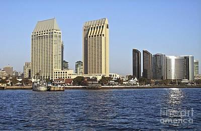 Photograph - San Diego Skyline 2007 by Carol  Bradley