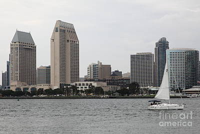 Coronado Bay Photograph - San Diego Skyline 5d24333 by Wingsdomain Art and Photography