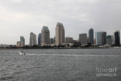 San Diego Skyline 5d24335 Art Print by Wingsdomain Art and Photography