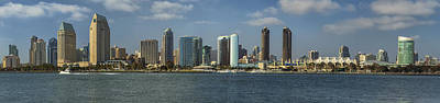 Photograph - San Diego Skyline Daytime Panoramic by Adam Romanowicz