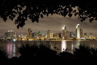 Photograph - San Diego Skyline Framed 2 by Lee Kirchhevel