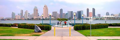 Coronado Photograph - San Diego Skyline From Coronado Island by Panoramic Images