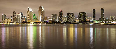 Photograph - San Diego Skyline Panoramic 2 by Lee Kirchhevel