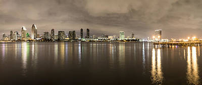 Photograph - San Diego Skyline Panoramic 3 by Lee Kirchhevel