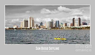 San Diego Skyline - Poster Style Art Print