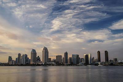 Art Print featuring the photograph San Diego Skyline Sunset 1 by Lee Kirchhevel