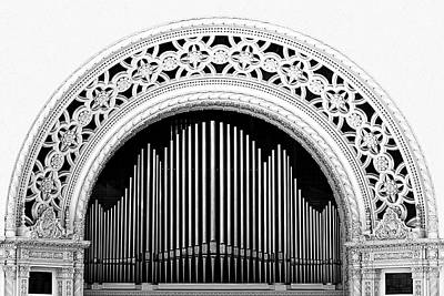 Musical Photograph - San Diego Spreckels Organ by Christine Till