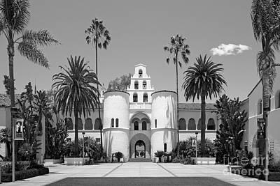 San Diego State University - Hepner Hall Print by University Icons