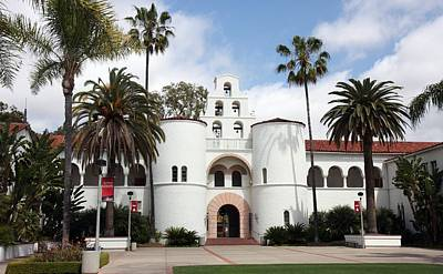 Art Print featuring the photograph San Diego State University by Nathan Rupert