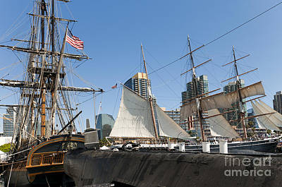 Photograph - San Diego Tall Ships  by Brenda Kean