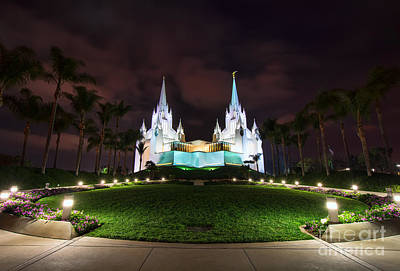 Photograph - San Diego Temple by Eddie Yerkish