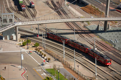Photograph - San Diego Train From Above by Anthony Doudt